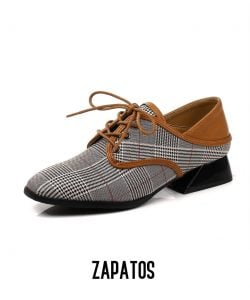 zapatos a cuadros para hombre