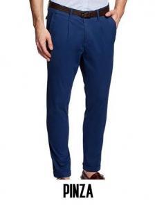 pantalones pinza hombre