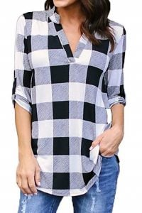 blusa de cuadros