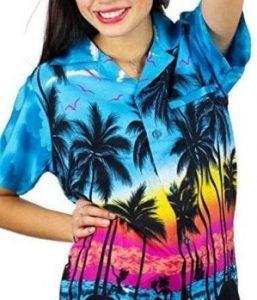 camisa hawaiana mujer