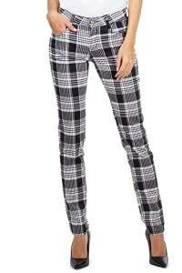 pantalon cuadros mujer